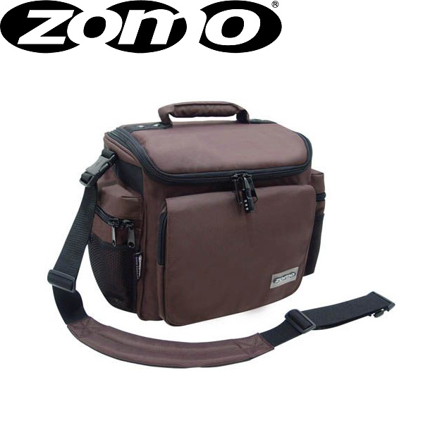 Zomo(ゾモ) DJ-Tank (Brown) CDホルダー付き 12インチレコード 約70枚収納可能レコードバッグ