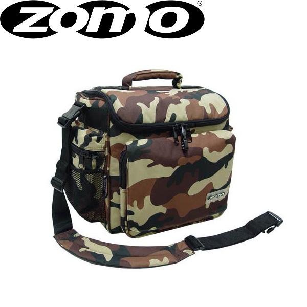 Zomo(ゾモ) DJ-Tank (Camouflage Brown) CDホルダー付き 12インチレコード 約70枚収納可能レコードバッグ