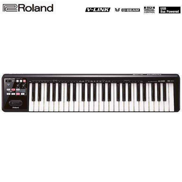Roland(ローランド)// A-49-BK (ブラック) MIDI Keyboard Controller (ブラック) MIDI - MIDIキーボード・コントローラー -, 大里村:45126c0e --- officewill.xsrv.jp