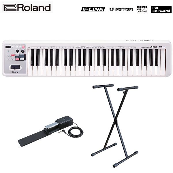 無料発送 大特典付【キーボードスタンドセット】 Roland(ローランド)/ A-49-WH MIDI Keyboard MIDI Keyboard Controller Controller (ホワイト) - MIDIキーボード・コントローラー -, MUSICLAND WEB SHOP:8ea42b5a --- totem-info.com