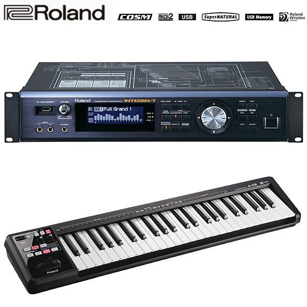 【INTEGRA-7セット】 Roland(ローランド) / INTEGRA-7 & A-49-BK MIDI Keyboard Controller (ブラック) - MIDIキーボード・コントローラー -