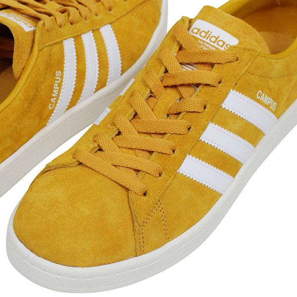 adidas Adidas CAMPUS SUEDE Lady's sneakers MUSTARD campus mustard yellow  suede leather shoes vintage genuine leather BZ0088 Rakuten mail order