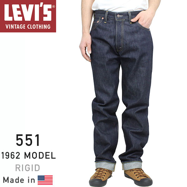 c232ba46c8011b miami records: Levi's Vintage Clothing 551Z XX 1962 MODEL rigid denim  Levi's vintage closing LVC LEVIS 19621-0001, Japan men's Indigo pants raw denim  jeans ...