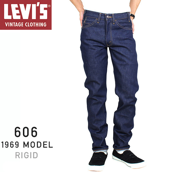 767449d90b3 Levi's Vintage Clothing 606 BIG E 1969 MODEL men slim denim underwear [RIGID]  Levis ...