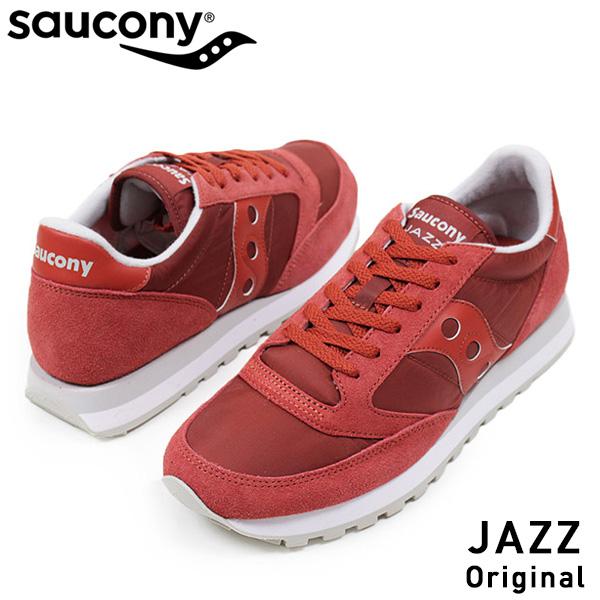 SAUCONY サッカニー JAZZ ORIGINAL men sneakers RED jazz original retrorunning shoes classical music masterpiece red red USA Rakuten mail order