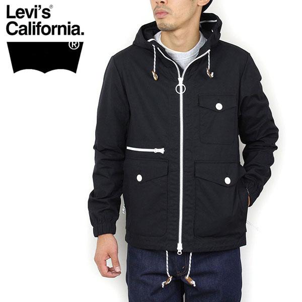 Levi 's 리 바이스 California 캘리포니아 조류 크로스 마운틴 파커 [BLACK] 후드 자 켓 방수 발 수 블랙 벤 타일 남성용 여성용 BEAMS LEVIS 925-0001 라쿠텐 쇼핑몰