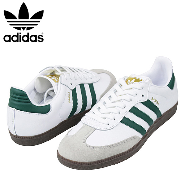 premium selection 9bd6f cc092 miami records  Shoes CQ2149 Rakuten mail order for the adidas Adidas SAMBA  OG men sneakers WHITE GREEN samba white green gum sole vintage vintage  originals ...