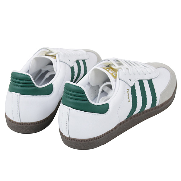 sneakers for cheap 18869 91776 The classic three stripe and heel tab adopt synthetic leather. The green  grafting color shines in uppercut of the white  is finished.
