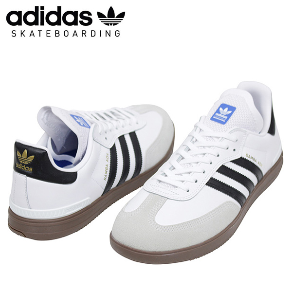bdbe2a73c The coloring is black three stripe, the authentic finish of the gum sole on  a basic white body.