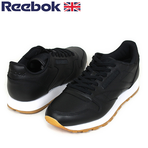 1877b2f33e4 miami records  Reebok Reebok CL LEATHER PG men sneakers  BLACK GUM ...