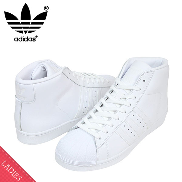 adidas adidas PRO MODEL Womens sneakers [ALL WHITE] women's women's women's White reprint vintage AS5217 ur