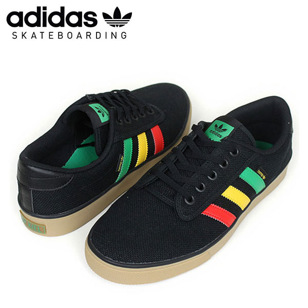 adidas skateboarding adidas KIEL HEMP sneakers [BLACKRASTA] hemp Rasta mens black skateboard