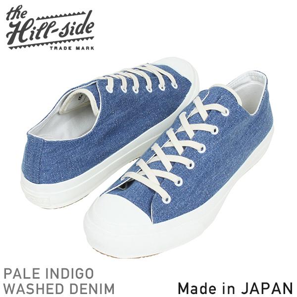 39c02036fae 山边的山坡上标准低顶端运动鞋男式靛蓝牛仔布在日本久留米明可达电器有限公司老式复古日本造你