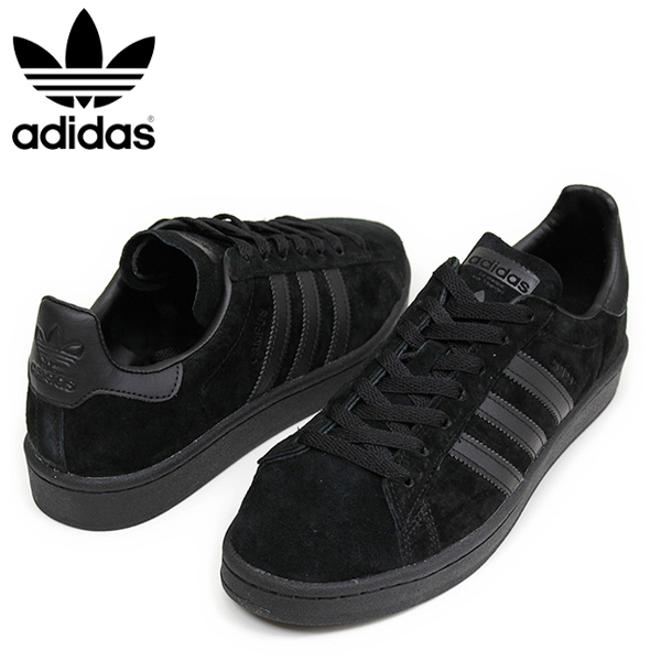 adidas leder black shoes mens