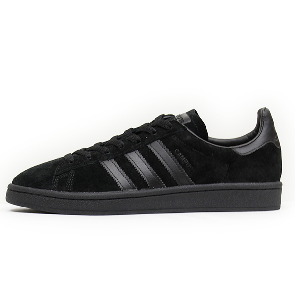 adidas Adidas CAMPUS SUEDE men sneakers [ALL BLACK] campus Brach's aide leather shoes genuine leather black BZ0079 Rakuten mail order