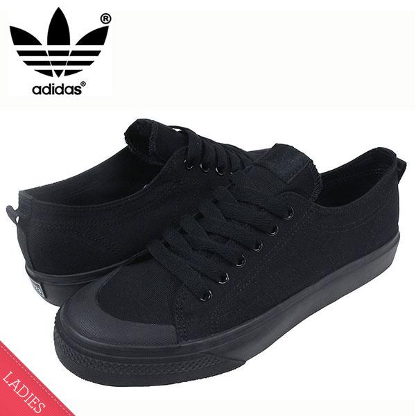 Adidas 아디다스 NIZZA LO CL 78 운동 화 [ALL BLACK] 여성용 여성용 올 블랙 클래식 G95801