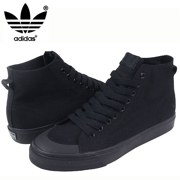 low priced 5c4d3 8544c 78 adidas adidas nizza hi cl sneakers all black ニッツァメンズオールブラック black