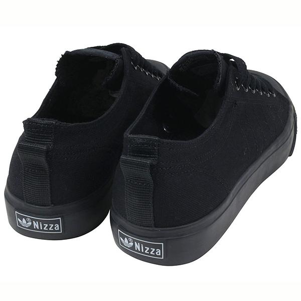 wholesale dealer 0bdd0 25bc2 ... Originals Nizza Lo adidas adidas NIZZA LO CL 78 sneakers ALL BLACK Nizza  mens black Black canvas ...