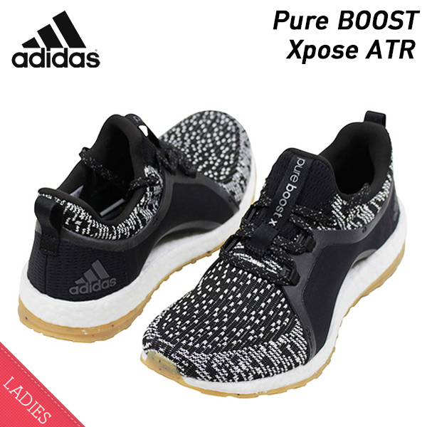 ab9e3426f miami records  Shoes BY2691 Rakuten mail order for the adidas Adidas Pure  BOOST Xpose ATR Lady s running shoes BLACK WHITE pure boost black white  sneakers ...