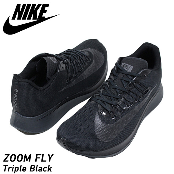 e068021c467b1f NIKE Nike ZOOM FLY men sneakers TRIPLE BLACK zoom fly black running shoes  LAB 4% 880