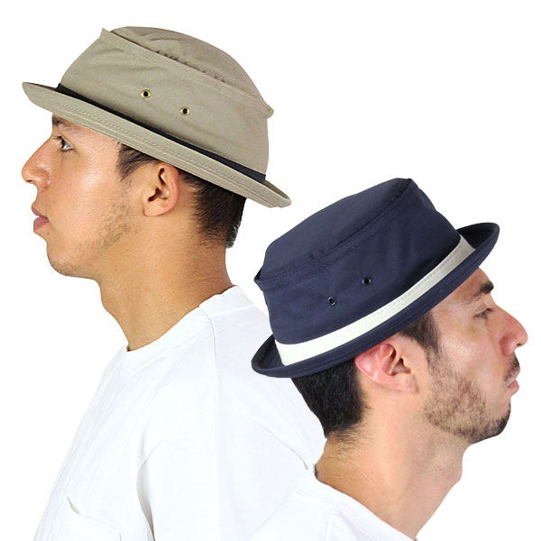 NEW YORK HAT Cotton Stingy (New York Hat cotton スティンギー cotton pork pie Hat Black mens ladies Hat #3061)