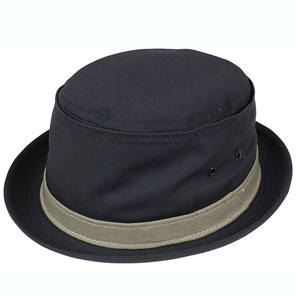NEW YORK HAT Cotton Stingy (New York Hat cotton スティンギー cotton pork pie Hat Black mens ladies Hat #3061)