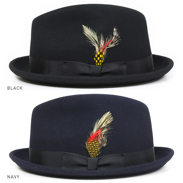 NEW YORK HAT Lite Felt Stingy (USA in men's women's hats Made, New York Hat Black of a Fedora Hat #5325)