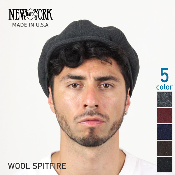 50f5ad8e NEW YORK HAT Wool Spitfire (USA in casket mens ladies Made, New York Hat ...
