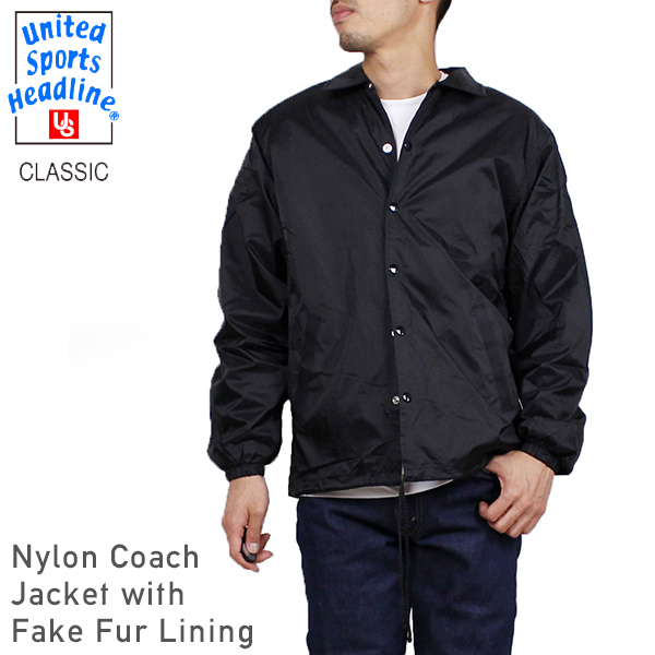 7568eb9b159 miami records  Nylon jacket Rakuten mail order for the coach jacket  BLACK   COACH JACKET plain fabric black man with the UNITED SPORTS HEADLINE united  ...