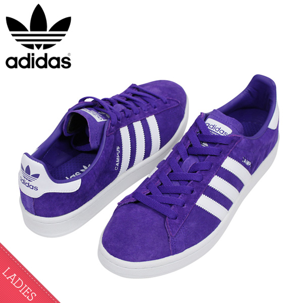 meet c1bc0 f7b53 Shoes BZ0075 Rakuten mail order for the adidas Adidas CAMPUS W SUEDE Ladys sneakers  PURPLE campus purple white suede leather shoes woman