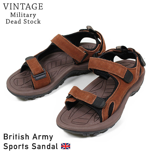 Rakuten mail order made in the Dead Stock dead stock British Army Sandals  men sandals BROWN British troops sports sandals military brown MADE IN