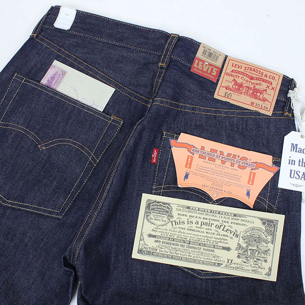 Levi's Vintage Clothing 501 XX 1966 MODEL double name [RIGID] Levi's vintage closing men's jeans blue vintage men's pants made in USA LVC LEVIS XX BIG E 66501-0008, Japan