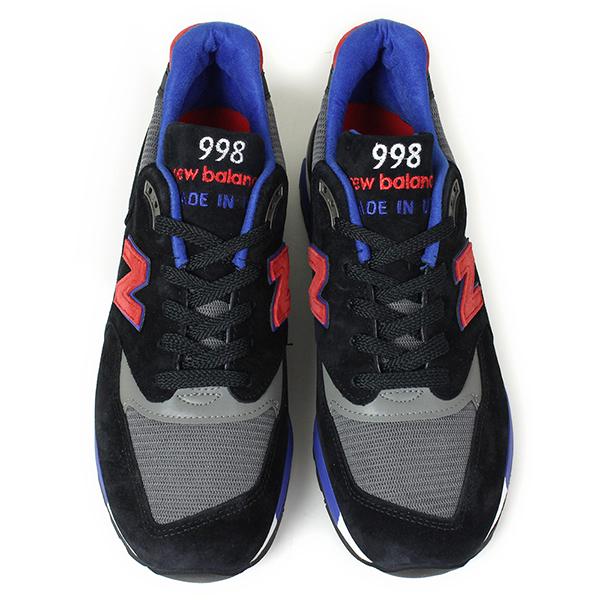 New Balance 뉴 밸런스 MADE IN USA M998 CBL [BLACK/BLUE] 미국제 스 니 커 즈 블랙 블루 남성용 남성용 신발 996 1400 1500