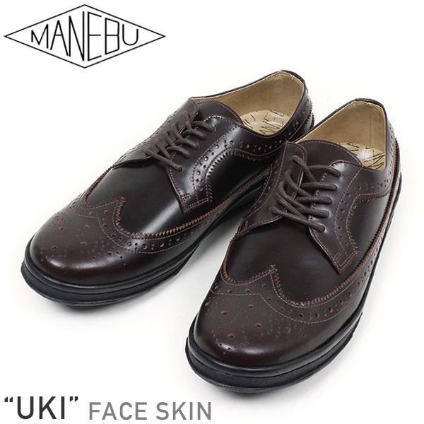 MANEBU マネブ UKI FACE SKIN レザー ウイングチップ シューズ BROWN ブラウン メンズ ビジネスシューズ ウィングチップ 送料無料 革靴 レザーシューズ ジャクソンマティス MASAKA カジュアル フォーマル 通販