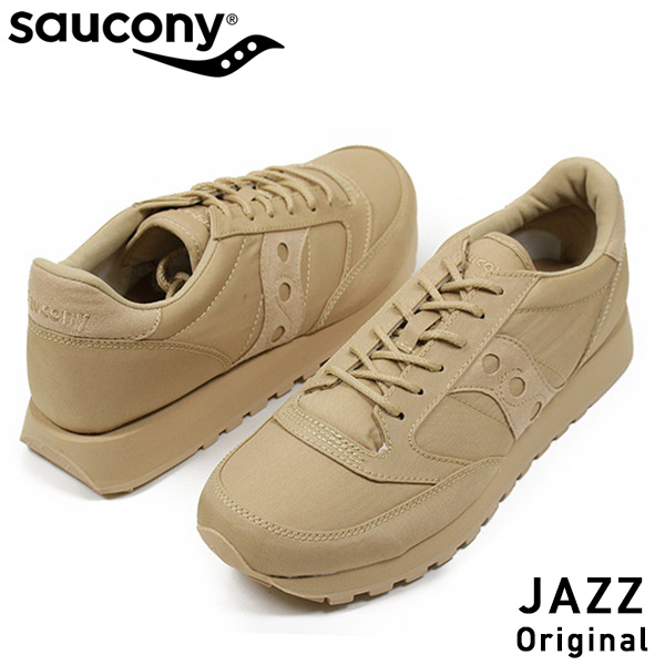 timeless design 32878 940a9 SAUCONY サッカニー JAZZ ORIGINAL MONO men sneakers TAN jazz original monotone  military retrorunning shoes classical music masterpiece タンベージュウィート USA ...