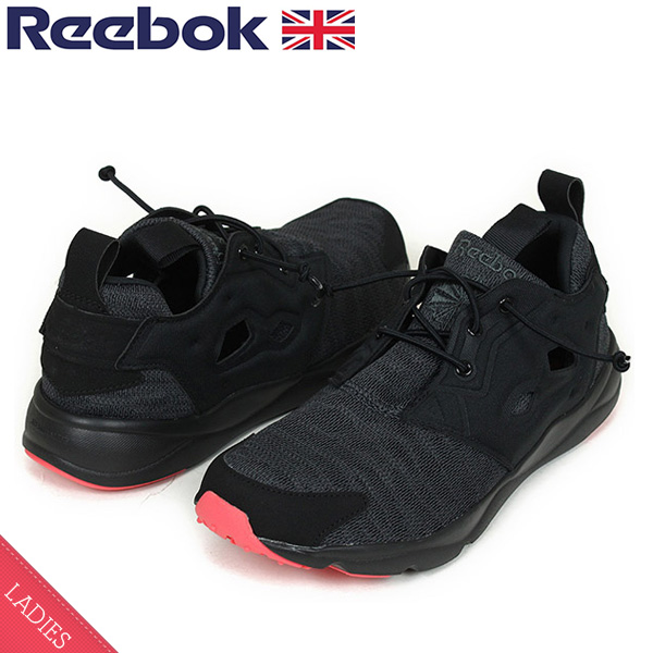 23efa7e0927 Reebok Reebok FURY LITE SOLE Lady s sneakers BLACK PINK  ポンプフューリーフューリーライトブラックピンク PUMP FURY slip-ons sandals shoes BD4624 Rakuten  mail ...