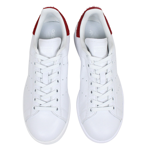 182812cd8f6 Shoes S75562 Rakuten mail order for the adidas Adidas STAN SMITH W Lady s  sneakers  WHITE RED PONY  Stan Smith white red Harako pony leather genuine  leather ...