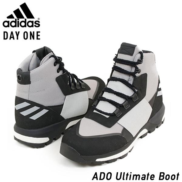 newest 824e9 51dc3 miami records Shoes CQ2609 Rakuten mail order for the adidas Adidas DAYONE  ADO ULTIMATE BOOT men sneakers BLACKGREY black gray trekking shoes boots  boost ...