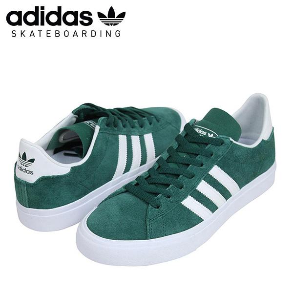 adidas skateboarding Adidas CAMPUS VULC sneakers [GREENWHITE] campus men Midori Green スケート