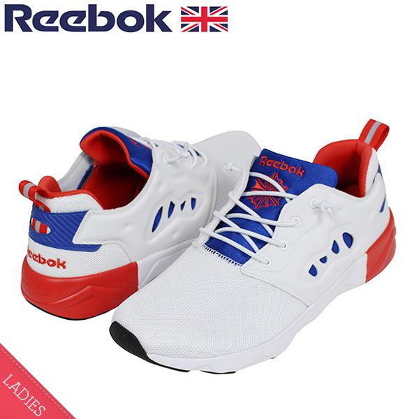 170bd29aee4 Reebok Reebok FURY LITE 2 Lady s sneakers  WHITE RED BLUE   ポンプフューリーフューリーライトトリコロールホワイトレッドブルー PUMP FURY slip-ons sandals shoes ...