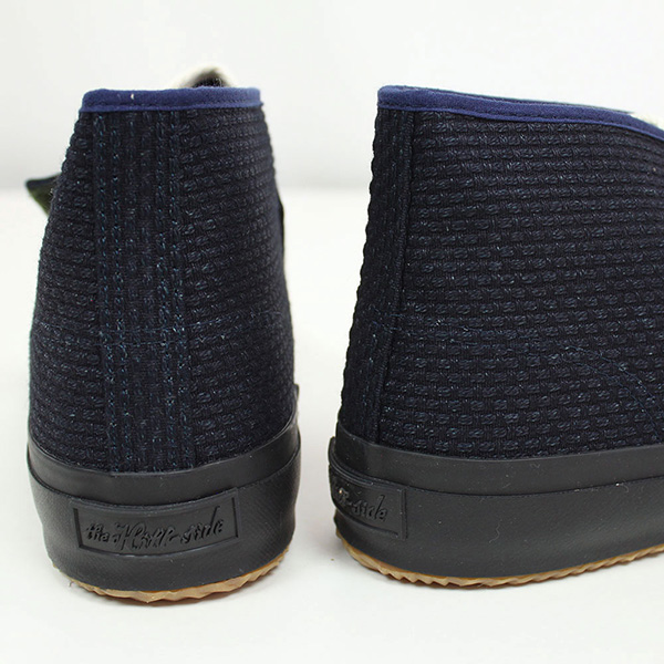 The Hill-side hillside Bridge Mid sneakers [INDIGO SASHIKO] men's Indigo sashiko embroidery MADE IN JAPAN made in Japan Kurume vintage vintage ur