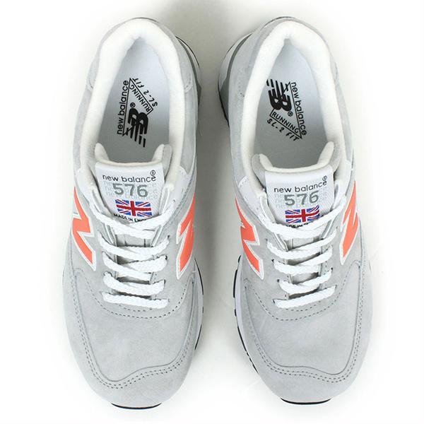 New Balance 뉴 밸런스 W576 PGS MADE IN ENGLAND 여성용 스 니 커 즈 [GREY/ORANGE] MADE IN UK 영국 스틸 그레이 오렌지 스웨이드 제한 M996 M1300 여성용 신발 라쿠텐 쇼핑몰