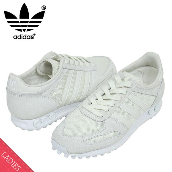 pretty nice b5500 ac357 miami records adidas adidas LA TRAINER W Womens sneakers WHITE womens  womens womens White monotone running 80s S32235 ur  Rakuten Global  Market