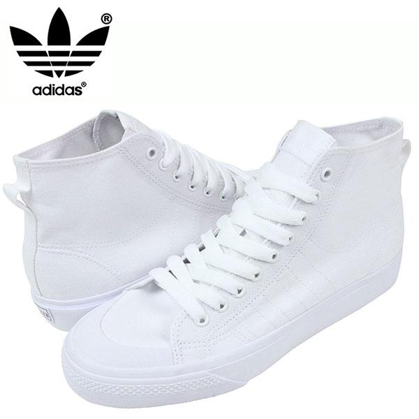 sale retailer 30500 0321c ... adidas adidas nizza hi cl 78 sneakers all white nizza mens all white  white