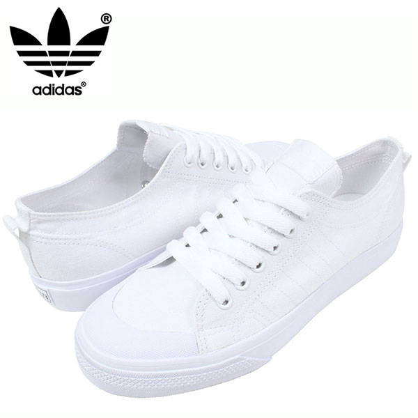 78 adidas Adidas NIZZA LO CL sneakers [ALL WHITE] ニッツァメンズオールホワイト white canvas shoes G95803