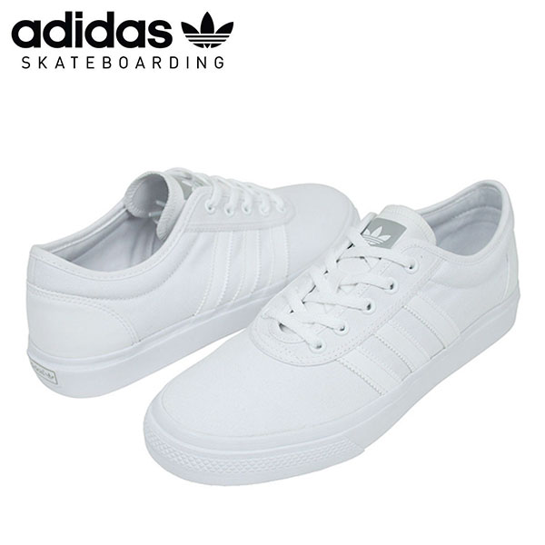 revendeur ac9e9 f27bf adidas skateboarding adidas adi-ease sneakers canvas men's all white  skateboard scosche F37315 ur
