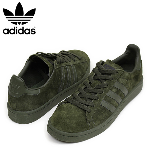 Bz0078 Mail Campus all Miami Rakuten Leather Genuine Records Men Sneakers Suede Green Adidas Order Olive Olive Shoes UZOfwqOA