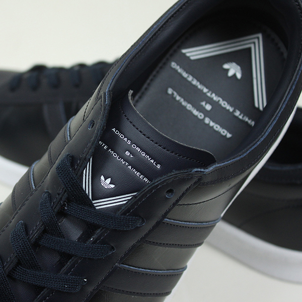 Adidas × White Mountaineering WM SUPER GRIP 스 니 커 즈 [NAVY] 아디다스 화이트 マウンテニアリング 컨소시엄 슈즈 네이 비 화이트 가죽 커스텀 S79448 라쿠텐 쇼핑몰