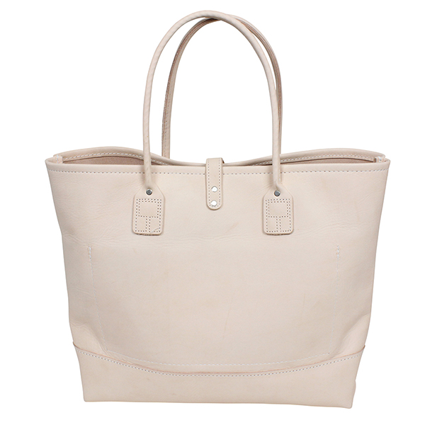 Heritage Leather Co Moccasin Tote Bag Natural Vegetable Made In Usa Mens Womens Uni