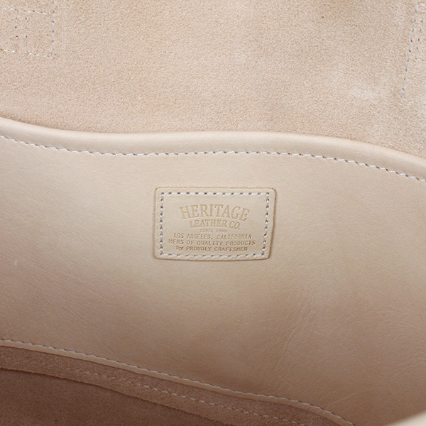 HERITAGE LEATHER CO. heritage leather moccasin leather tote bag  NATURAL  VEGETABLE f5bc642413fa7